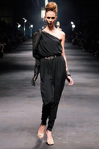drape, harem, black, lanvin, alber elbaz