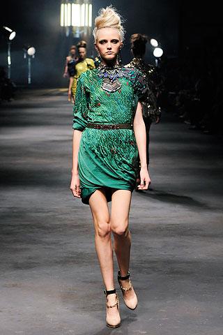 Green dress, lanvin, alber elbaz, spring 2010, fashion 2010