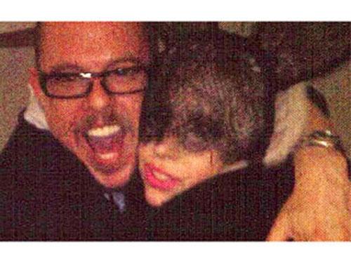 Lady Gaga with Alexander McQueen, Alexander McQueen hugging Lady Gaga, Fashion Designer