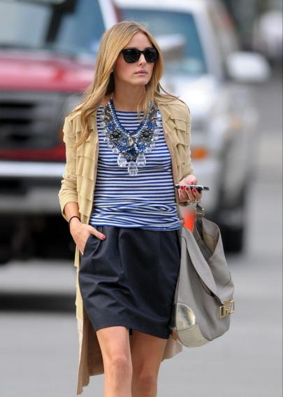 Breton stripes, Olivia Palermo fashion, OP style, parisian chic