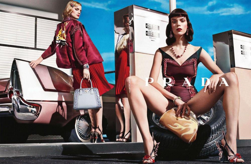 Prada spring summer 2012 ad campaign shot by Steven Meisel