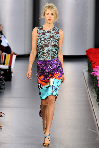 spring summer 2012 runway look by Mary Kantrantzou