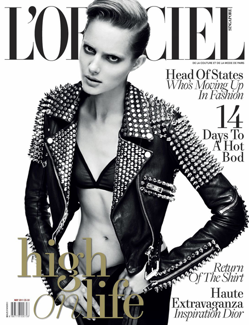 Burberry Prorsum Jacket on the cover of L'Officiel