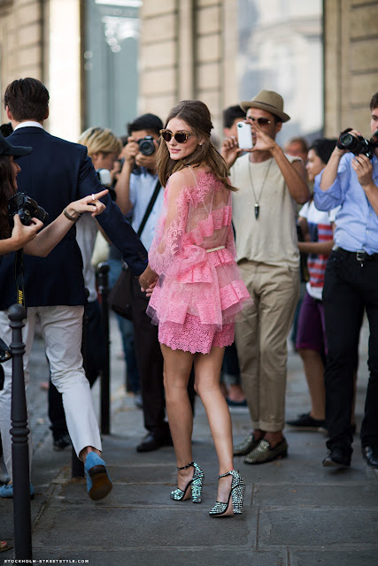 Olivia Palermo in pink