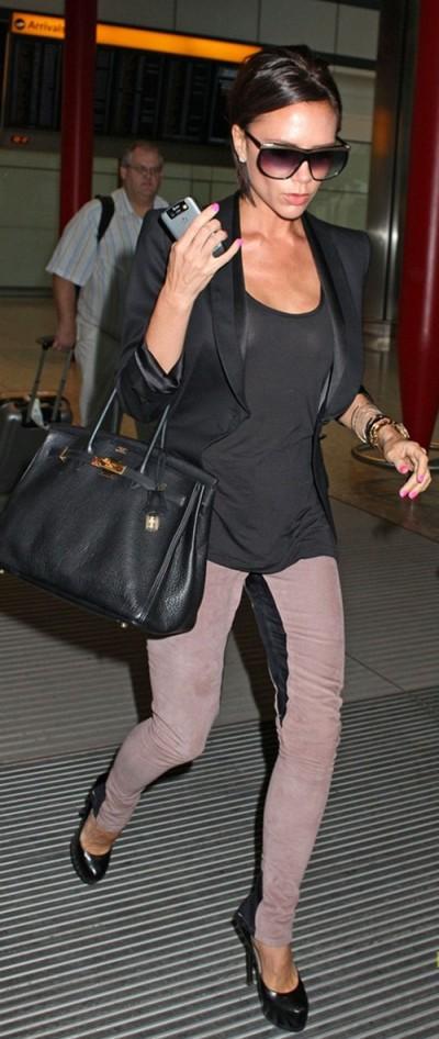 Victoria Beckham wearing DVB Jeans
