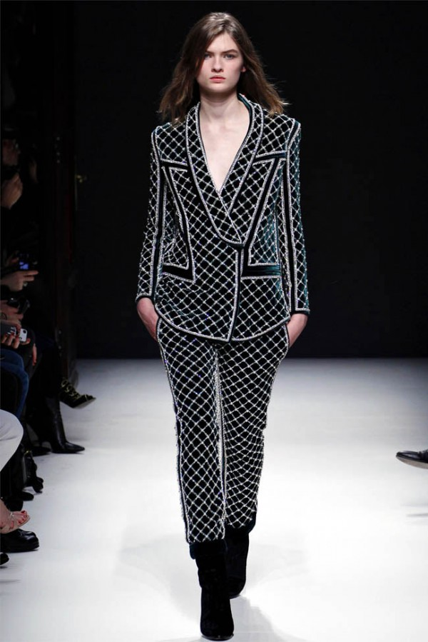 Balmain Winter 2012-13 velvet embellished suit