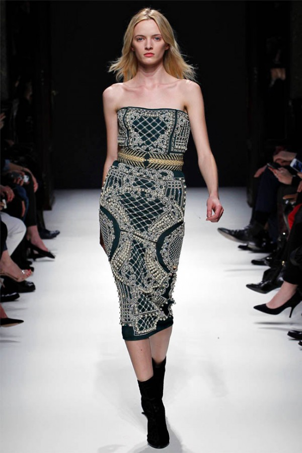Balmain 2012-13 velvet embellished dress