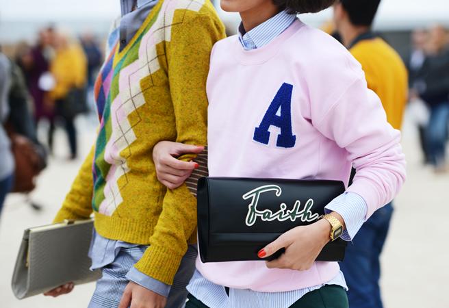 Pink Letterman Sweatshirt