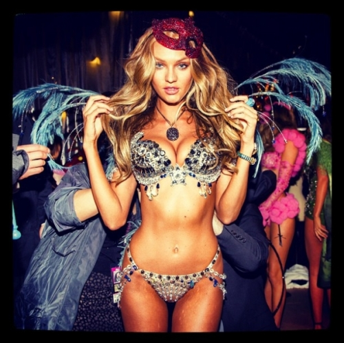 Candace Swanepoel at Victoria's Secret Fashion show 2012