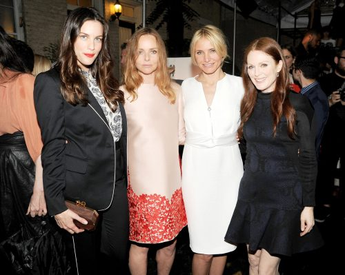 Stella McCartney, Cameron Diaz, Julian Moore, Liv Tyler at Stella McCartney's spring summer 2014 presentation