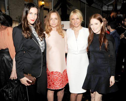 Stella McCartney, Cameron Diaz, Julian Moore, Liv Tyler at Stella McCartney's spring summer 2014 presentation