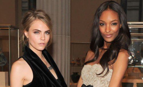 Cara-Delevingne and Jourdan Dunn Victorias-Secrets