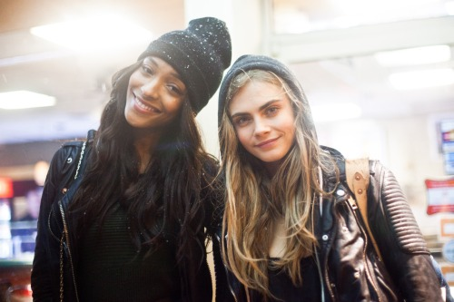jourdan dunn and cara delevigne