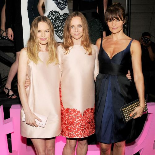 Stella McCartney, Kate Bosworth and Helena Christensen at Stella McCartney Spring Summer 2014 presentation
