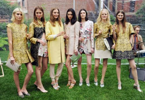 The models wearing Stella McCartney Spring Summer 2014