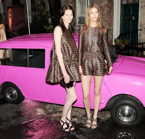 The models wearing Stella McCartney Spring Summer 2014