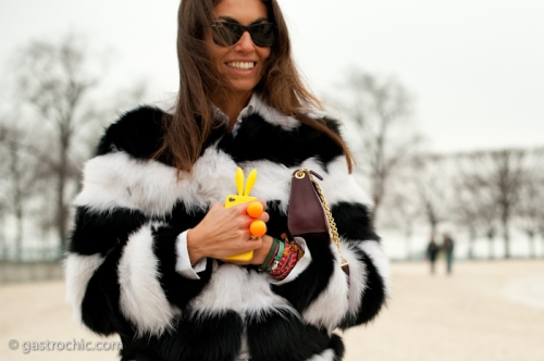 Viviana Volpicella with a Bunny iPhone Case