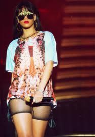 Rihanna looking festival chic